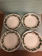 Sango Noel 8401 Christmas China 8andrdquo Serving Bowl. 1990 Holly Berries Red Green
