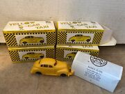 Louis Marx Plastic Yellow Taxi Cab Car Usa X1 New In Box 1 Left