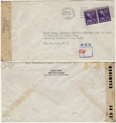 1945 - Mail Sent To A Crippled Us Civilian Imprisoned At A Japanese Pow Camp