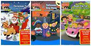 Fisher Price Little People Christmas Fun Halloween Road Trip Cds Dvd Set Lot New