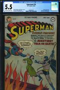 Superman 76- Cgc-5.5 Ow-w - Superman And Batman First Learn Each Others I.d.