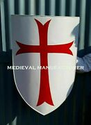 Medieval Crusader Knight Foam Shield With Red Cross Coat Of Arms Larp Cd