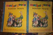 1940and039s Mother Goose Nursery Prints- Ten Decorative Prints In Full Color