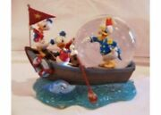 Disney Donald Duck Sea Scouts Snow Globe With Wind-up Music Box Unused 384/mn