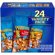 Planters Snack Nuts Variety Pack 1.75 Oz. Pouches 24 Ct. New