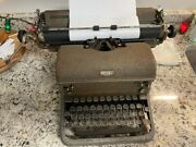 Vintage Antique Royal Manual Typewriter With Box And Glass Keys