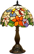 Lamp W12h18 Inch Hummingbird Stained Glass Reading Table Bedside Desk Li