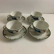 4 Wood And Sons England Jacks Farm Cups And Saucers Hearts And Farm Animals