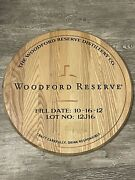 Authentic 10/2012 Woodford Reserve Kentucky Bourbon Barrel Head. Ready To Mount.
