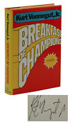 Breakfast Of Champions Signed By Kurt Vonnegut First Edition 1st Print 1973