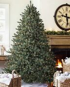 Classic Blue Spruce 7.5 Ft Clear Light Artificial Christmas Tree New
