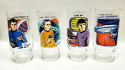 1978 Star Trek Dr Pepper 2 Promo Drinking Glass Collection-your Choice 4 Or Set