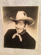 Vtg. Signed Photo Wild Bill Elliott Who Played Red Ryder And Bill Hickok Inscribed