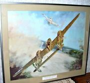Wwii Print Fighter Planes Lightning Fifth Airforce Jumps Japanese J B Deneen