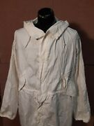 Us Military White Small Snow Camouflage Parka Shell 1989 Tennier Industries Inc