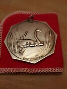 Vintage 1977 Towle Sterling 12 Days Of Christmas 7 Swans A Swimming Ornament