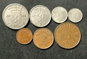 Vintage Norway Coin Lot - 1952-1957 Series - Full Set - Free Shipping
