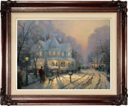 Thomas Kinkade Holiday Gathering 25.5 X 34 A/p Oil On Canvas Limited Edition