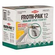 Froth-pak 12030014 Air Sealing Spray Foam Sealant Kit 3.3 Lb Two Cylinders