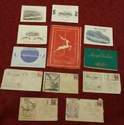 Vintage Lot Navy Christmas Cards And Envelopes Uss Markab Dixie Worcester Smith