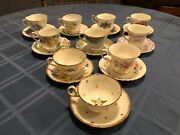 10 Beautiful Sets Of Vintage Tea Cups And Saucers, Royal Albert, Queen Anne, Andmore