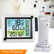 Wireless Weather Station Lcd Digital Thermometer Hygrometer Indoor Outdoor