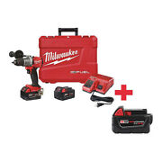 Milwaukee 2806-22, 48-11-1850 18v Hammer Drill, Battery Included, 1/2 In Chuck