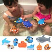 Baby Bath Toys Finding Nemo Dory Float Spray Water Squeeze Toys Soft Rubber Bath