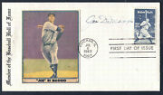 Joe Dimaggio Autographed Baseball Babe Ruth First Day Cover Psa