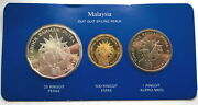 Malaysia 1982 Independence Box Set Of Gold And Silver Coinsproofrare