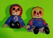 Vtg Evil Eyes Gothic Horror Raggedy Ann And Andy Bookends Bobbs Merrill 1981