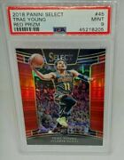 2018-19 Panini Select Trae Young Red Prizm Rc 45 Psa 9 Mint Team Color Red Ssp