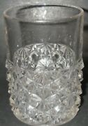 Eapg Us Glass Daisy And Button Clear Tumbler 4 High Vintage Pressed