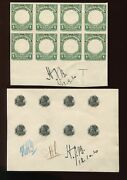 Panama 197p Vignette And Frame Proof On Card Margin Blocks Of 8 Stamps Canal Zone