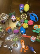 Gumball/ Vending Machine Toys And Prizes Variety Lot Of 45 Pieces
