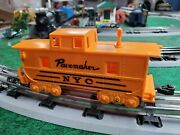 Vintage Marx 0 Scale Pacemaker Nyc Orange 4-wheel Caboose 1950s Knuckle Coupler
