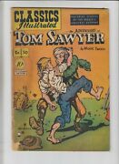 Classics Illustrated 50 Adventures Of Tom Sawyer 1st - Blue Yellow Error Cover