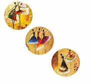 Wall Hanging Plates Of Bone China 7 Inch, Multicolour Free Shipping Worldwide