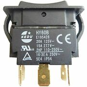 Hy60b 125/250v 20/15a Pins Rocker Switch On-off-on Push Button Switches Arc For