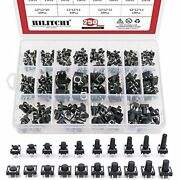 250-pcs 6 X 6mm 12 12mm Tactile Push Button Switch Micro Momentary Assortment 20