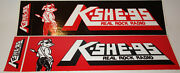 Vintage 80and039s Kshe 95 Bumper Stickers Nos St Louis Sweet Meat Real Rock Radio Fm