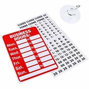 Business Hour Open Closed Sign Bundle Of Office Hours Will Return Clock With For