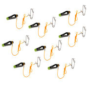 8pcs Power Grip Release Clip Outrigger Downrigger Release Clips And 17 Leader