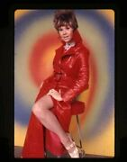 Sue Ane Langdon Sexy Leggy Glamour Pin Up Red Coat Original 35mm Transparency
