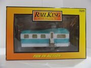Rail King Mth Trains Mobile Home Turquoise And White Item 30-90108 Boxed Mib