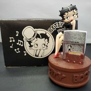 Zippo Lighter Betty Boop 90and039s Limited Edition Rolling Music Box Figure Vintage