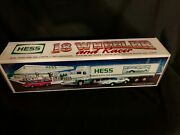 1992 Hess Truck 18 Wheeler And Racer New In Box Never Played With Toy
