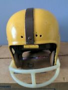 Vintage Football Helmet Riddle Rk4 6 Point Suspension System Yellow