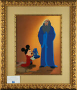 Fantasia Mickey Mouse And Yen Sid Disney Limited Edition Cel A Lesson Learned