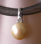 17.4mm Gold South Sea Pearl 100 Untreated +18ct Solid White Gold Pendant+cert